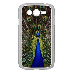 Bird Peacock Display Full Elegant Plumage Samsung Galaxy Grand Duos I9082 Case (white)