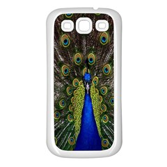 Bird Peacock Display Full Elegant Plumage Samsung Galaxy S3 Back Case (white)