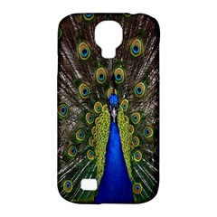 Bird Peacock Display Full Elegant Plumage Samsung Galaxy S4 Classic Hardshell Case (pc+silicone)
