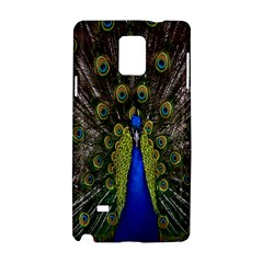 Bird Peacock Display Full Elegant Plumage Samsung Galaxy Note 4 Hardshell Case