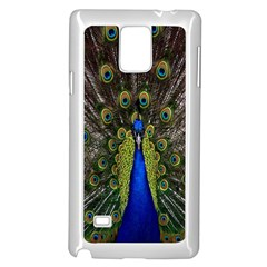 Bird Peacock Display Full Elegant Plumage Samsung Galaxy Note 4 Case (white)