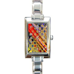 Background Texture Pattern Rectangle Italian Charm Watch