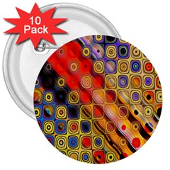 Background Texture Pattern 3  Buttons (10 pack)