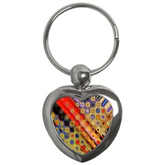 Background Texture Pattern Key Chains (heart)