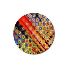 Background Texture Pattern Magnet 3  (round)