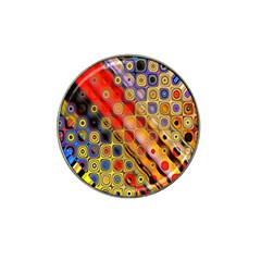 Background Texture Pattern Hat Clip Ball Marker (4 Pack)