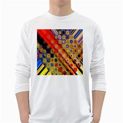 Background Texture Pattern White Long Sleeve T Shirts