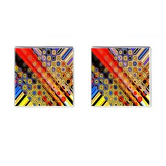 Background Texture Pattern Cufflinks (Square)