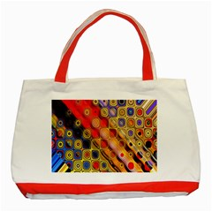 Background Texture Pattern Classic Tote Bag (Red)
