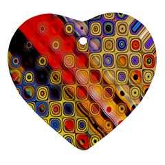 Background Texture Pattern Heart Ornament (two Sides)