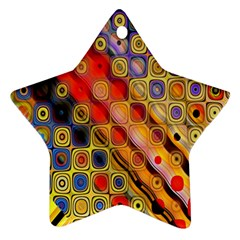 Background Texture Pattern Star Ornament (two Sides)