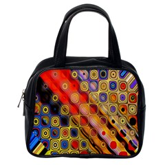 Background Texture Pattern Classic Handbags (one Side)
