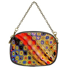 Background Texture Pattern Chain Purses (two Sides)