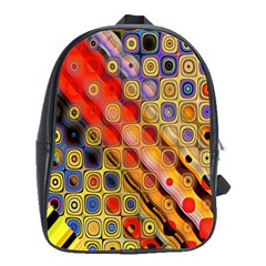 Background Texture Pattern School Bags(large)
