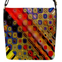 Background Texture Pattern Flap Messenger Bag (s)