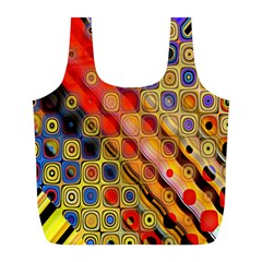 Background Texture Pattern Full Print Recycle Bags (l)