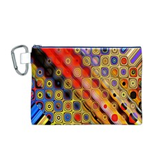 Background Texture Pattern Canvas Cosmetic Bag (m)