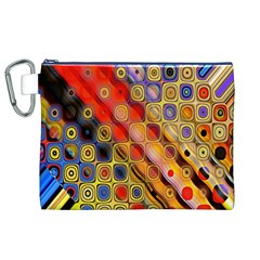 Background Texture Pattern Canvas Cosmetic Bag (xl)