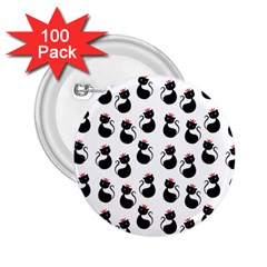 Cat Seamless Animal Pattern 2.25  Buttons (100 pack)