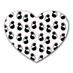 Cat Seamless Animal Pattern Heart Mousepads