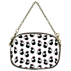 Cat Seamless Animal Pattern Chain Purses (one Side)