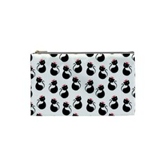 Cat Seamless Animal Pattern Cosmetic Bag (small)