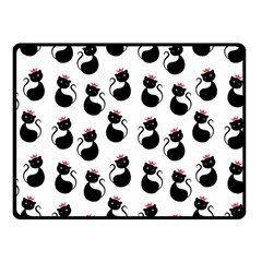 Cat Seamless Animal Pattern Fleece Blanket (Small)