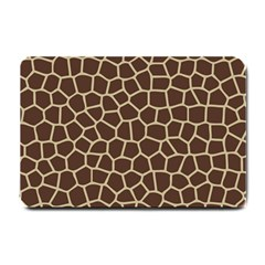 Leather Giraffe Skin Animals Brown Small Doormat