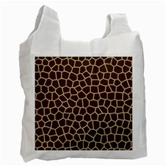 Leather Giraffe Skin Animals Brown Recycle Bag (One Side)