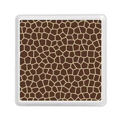 Leather Giraffe Skin Animals Brown Memory Card Reader (Square)