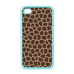 Leather Giraffe Skin Animals Brown Apple iPhone 4 Case (Color)