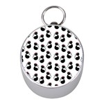 Cat Seamless Animal Pattern Mini Silver Compasses Front