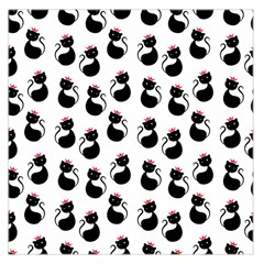 Cat Seamless Animal Pattern Large Satin Scarf (square)