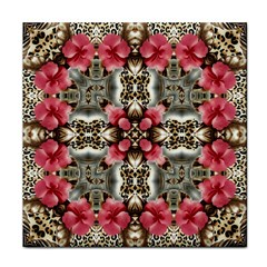 Flowers Fabric Tile Coasters