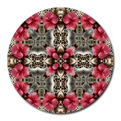 Flowers Fabric Round Mousepads