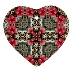 Flowers Fabric Ornament (heart)