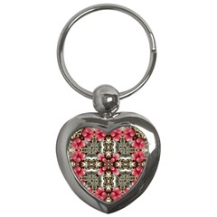 Flowers Fabric Key Chains (Heart)