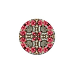 Flowers Fabric Golf Ball Marker