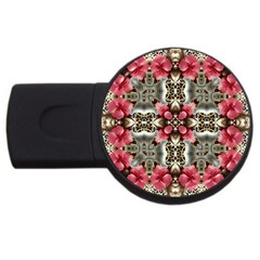 Flowers Fabric Usb Flash Drive Round (4 Gb)
