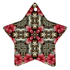 Flowers Fabric Star Ornament (two Sides)