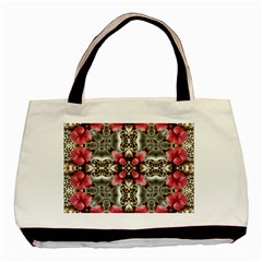 Flowers Fabric Basic Tote Bag (two Sides)