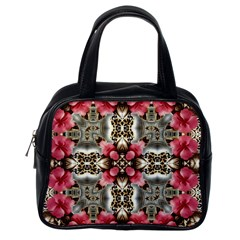 Flowers Fabric Classic Handbags (one Side)