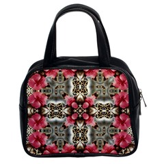 Flowers Fabric Classic Handbags (2 Sides)