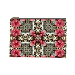 Flowers Fabric Cosmetic Bag (large)