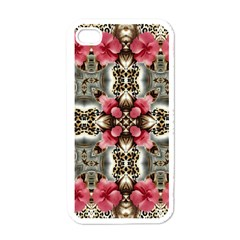 Flowers Fabric Apple Iphone 4 Case (white)
