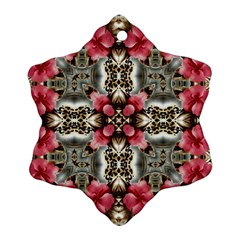 Flowers Fabric Ornament (snowflake)