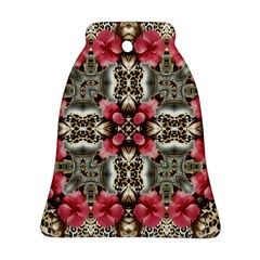 Flowers Fabric Bell Ornament (Two Sides)