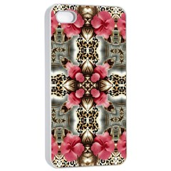 Flowers Fabric Apple iPhone 4/4s Seamless Case (White)