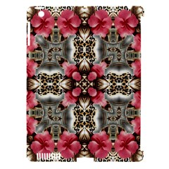 Flowers Fabric Apple Ipad 3/4 Hardshell Case (compatible With Smart Cover)