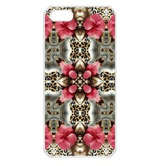 Flowers Fabric Apple iPhone 5 Seamless Case (White)